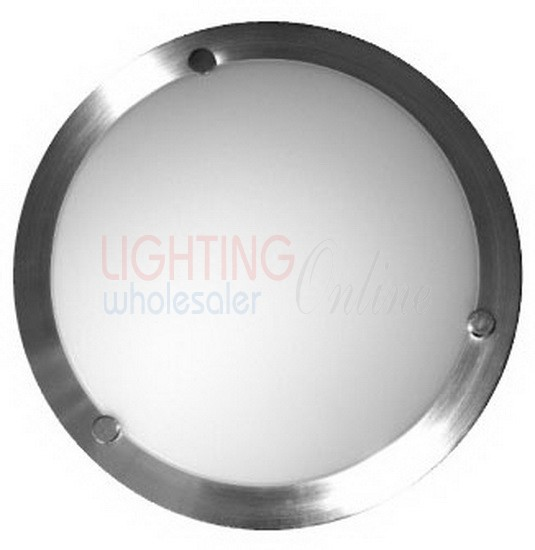Carton of 10 x Solo Satin Chrome Oyster Ceiling Light