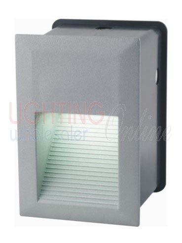 Carton of 18 x LED Recessed Wall Light - Aluminium Body