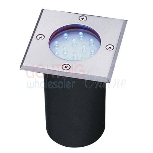 Carton of 18 x Waterproof LED In-ground Light - Square Surface