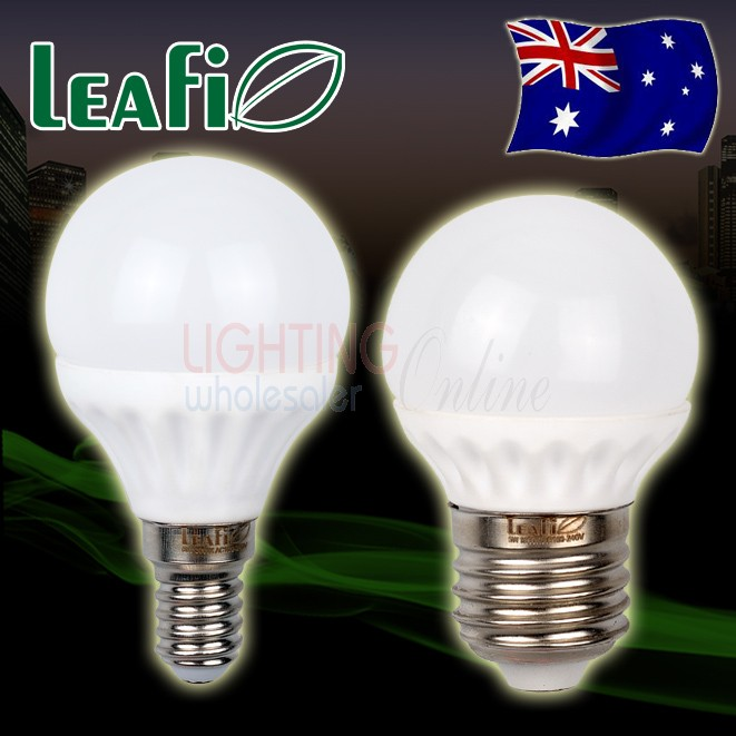 5 x LEAFI 5W E14 / E27 Base LED Energy Saving Globes Bulbs Lamps