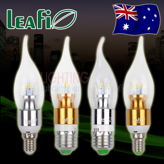 5 x LEAFI 5W E14 / E27 LED Energy Saving Candle Light Bulbs Globes