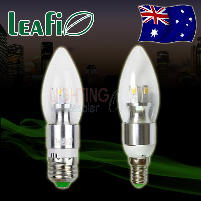 5 x LEAFI 5W E27 / E14 LED Energy Saving Ellipse Candle Light Bulbs Globes