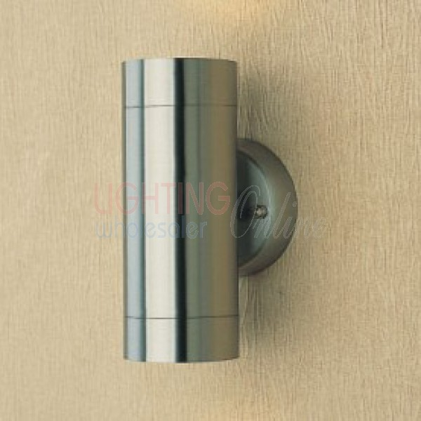 Carton of 10 x Stainless Steel Up & Down Exterior Wall Down Light - GU10 Lamp Included