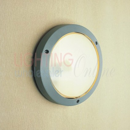 Outdoor Aluminum Die-casting Solo Frost Glass Bulkhead  Light