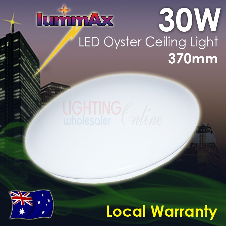 LUMMAX 30W LED Oyster Ceiling Light 370mm IP20 Sealed