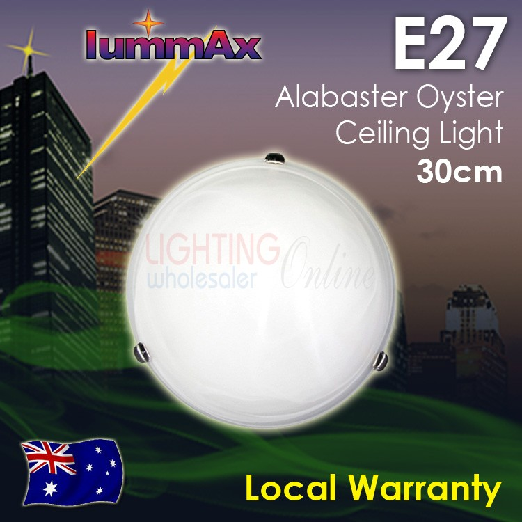 Lummax E27 Alabaster Oyster Ceiling Light 30cm