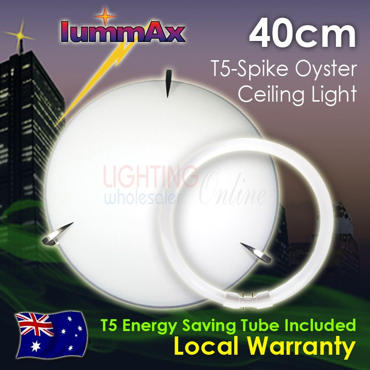 Lummax Tri Spike Oyster Ceiling Light with T5 Energy Saving Tube 40cm