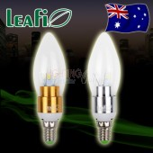 5 x LEAFI 3W E14 LED Energy Saving Ellipse Candle Light Bulbs Globes