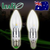 5 x LEAFI 3W E14 / E27 LED Energy Saving Ellipse Candle Light Bulbs Globes