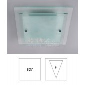Elegant Double Glass Square Ceiling Light 40cm - E27 Socket