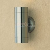 Stainless Steel Up & Down Exterior Wall Down Light - GU10 Lamp Included