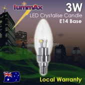 AKESI 3W LED Crystal Candle Light Bulb Globe E14