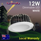 LUMMAX 12W Dimmable LED Downlight Kit  90mm Cutout White