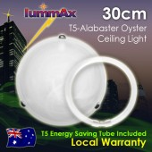 Lummax Alabaster Tri Clips Oyster Ceiling Light with T5 Energy Saving Tube 30cm