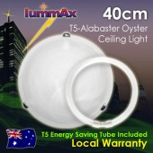 Lummax Alabaster Tri Clips Oyster Ceiling Light with T5 Energy Saving Tube 40cm
