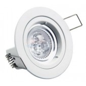 Akesi 9W White LED Down Light Kit 70mm Cutout Fitting & Spotlight Globe