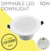 LUMMAX 10W Dimmable LED Downlight Kit 90-100mm Cut Out Flat Style