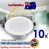 10 x Dimmable LUMMAX  Downlight Kit 10W LED Downlight Kit 90-100mm Cut Out AU Approved