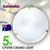 5 x Cheap Oyster Ceiling Light ES27 - 30cm Diameter