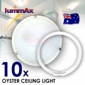 LUMMAX 10 x High Quality Best Price T5 Alabaster Oyster Ceiling Light 30 / 40cm