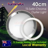 Lummax Solo Satin Chrome Oyster Ceiling Light with T5 Energy Saving Tube 40cm
