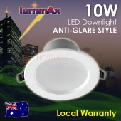 LUMMAX 10W Dimmable LED Downlight Kit Anti-glare Style 90-100mm Cut Out