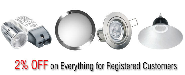 5% off on everything for registered customers